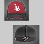 Lobos 16U Maroon/Charcoal Cap with LB on the front Wolfhead on the back
